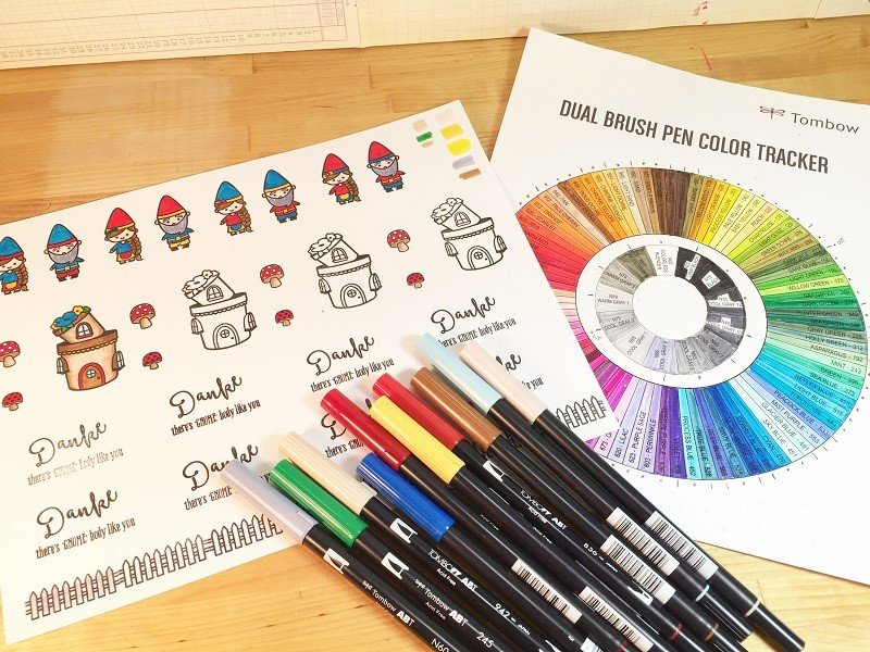 How to Stamp, Color and Build a Gnome Home!