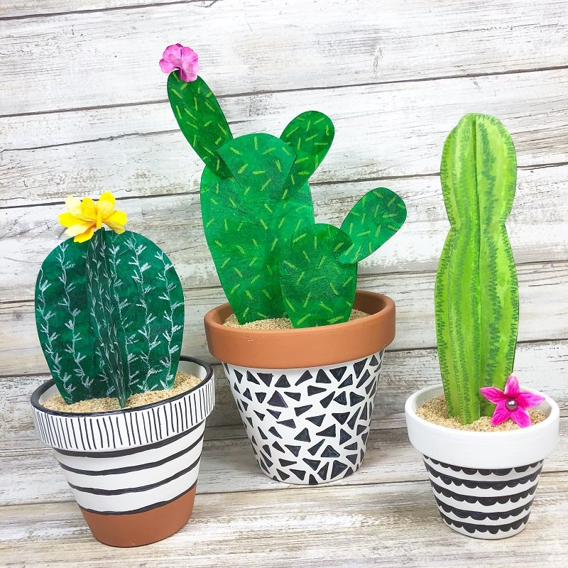 UPCYCLE FAUX CACTUS CREATIVELY BETH