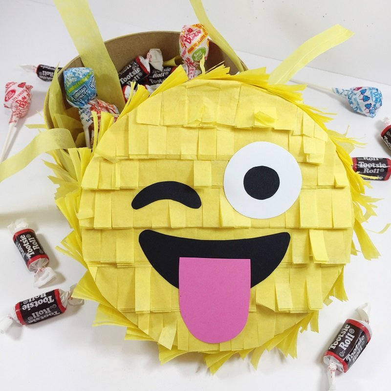 Create an Emoji Pinata Gift Box with this fun DIY from Creatively Beth