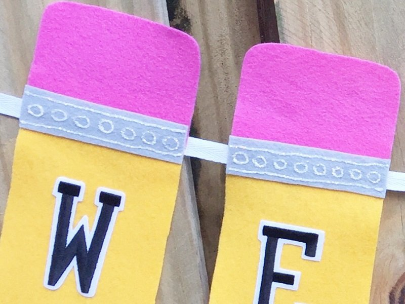 Embellish a Back to School Pencil Banner with Creatively Beth