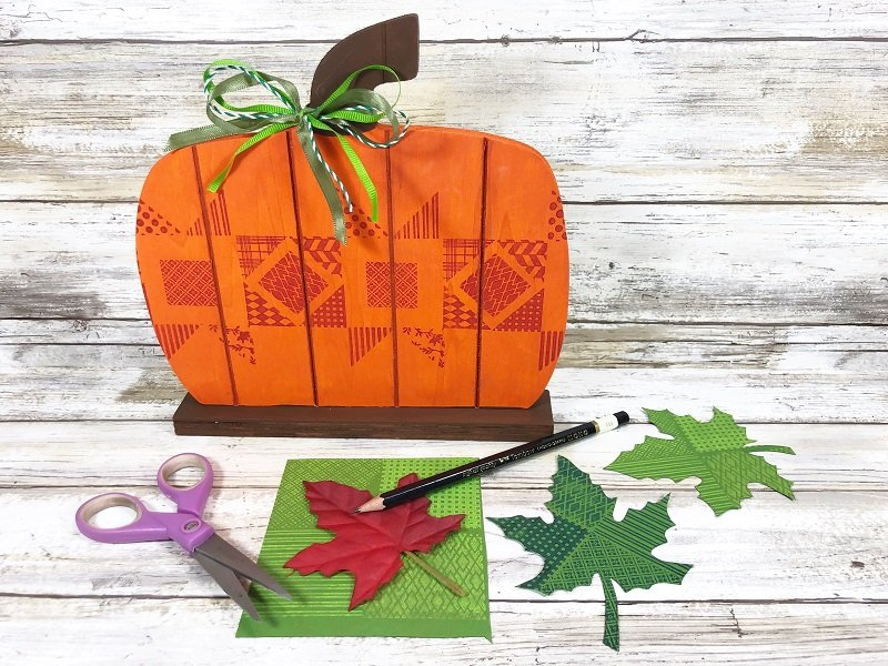 Creatively Beth trace and cut out leaves from stamped cardstock