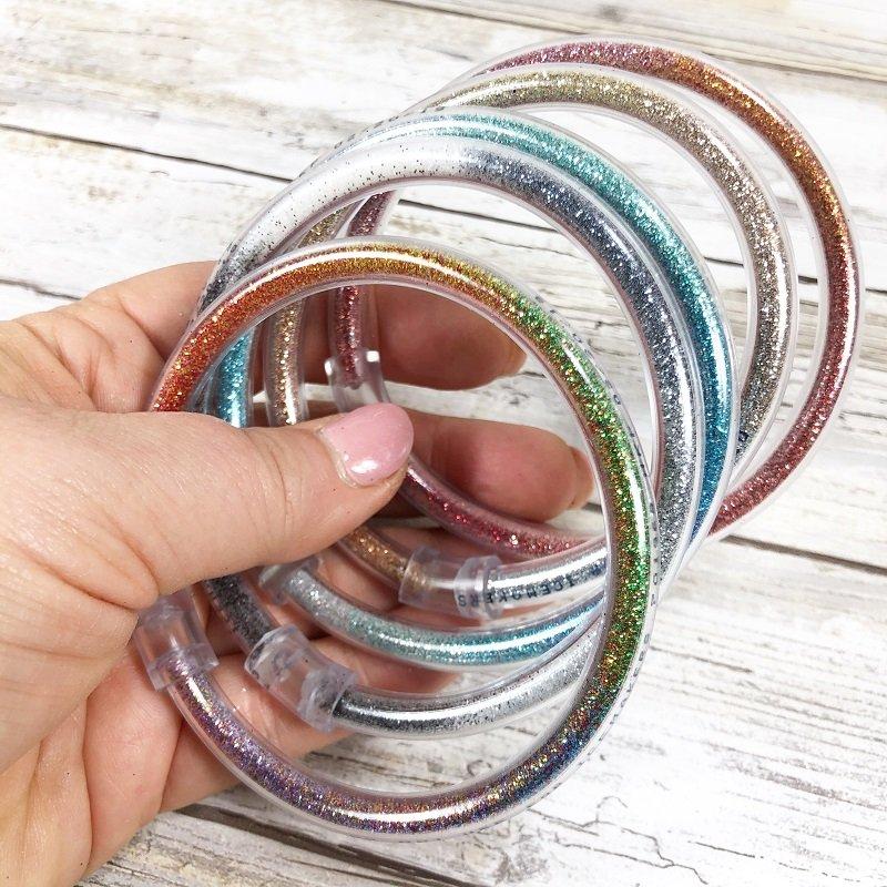 Totally Tubular Glitter Bracelets in 15 minutes Creatively Beth #creativelybeth #craftlightning #glitter #crafts #jewelry #15minutecrafts