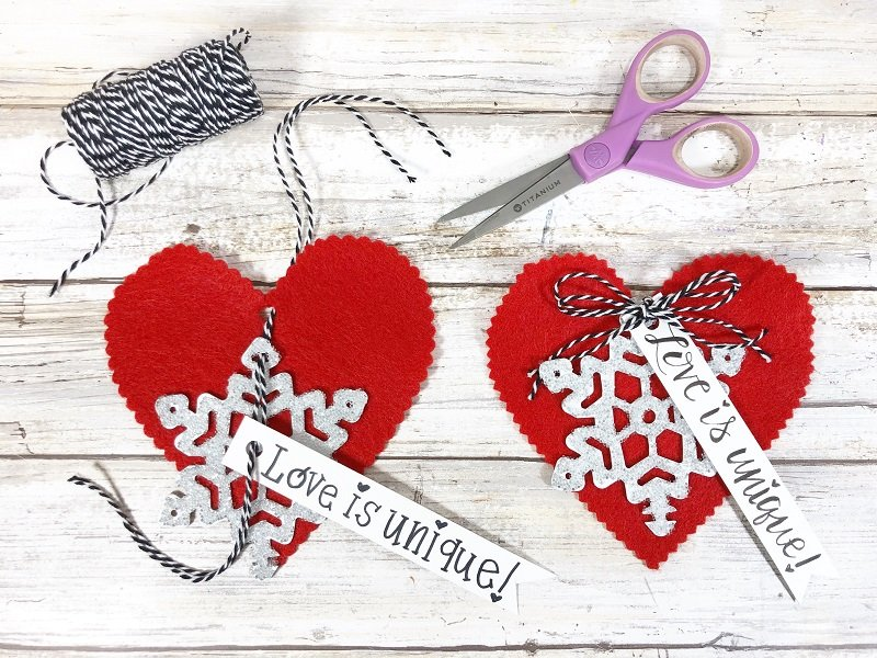 Layer elements together with bakers twine Creatively Beth #creativelybeth #fairfieldworld #artabandonment #glittercrafts #heartcrafts #kindnesscrafts