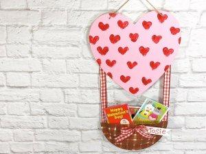 Dollar Tree Hot Air Balloon Valentine Mailbox Creatively Beth #creativelybeth #dollartreecrafts #kidscrafts #valentinesdaycrafts