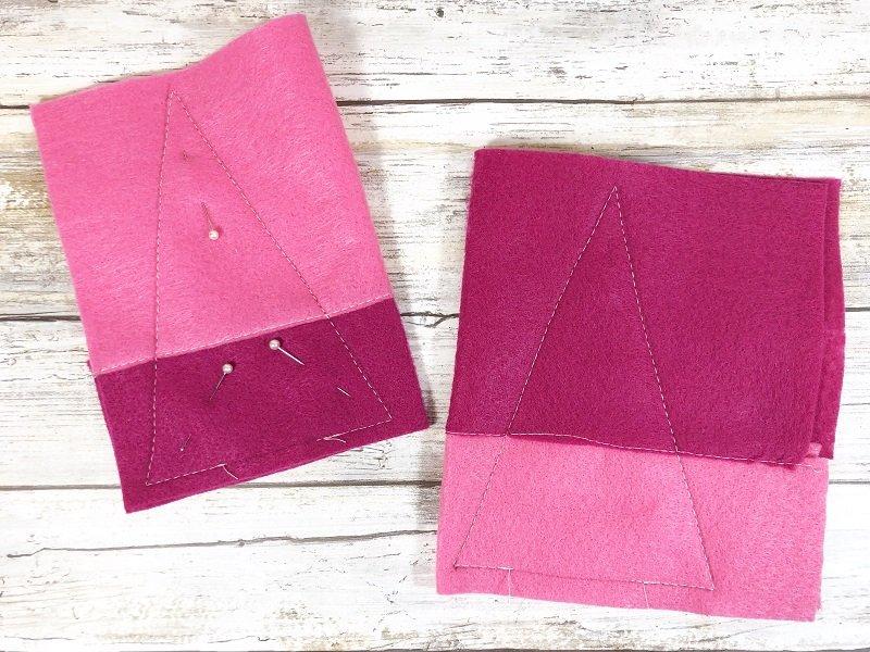 Sew Gnome Body Creatively Beth #creativelybeth #polyfil #gnomes #stuffies #valentinesdaycrafts