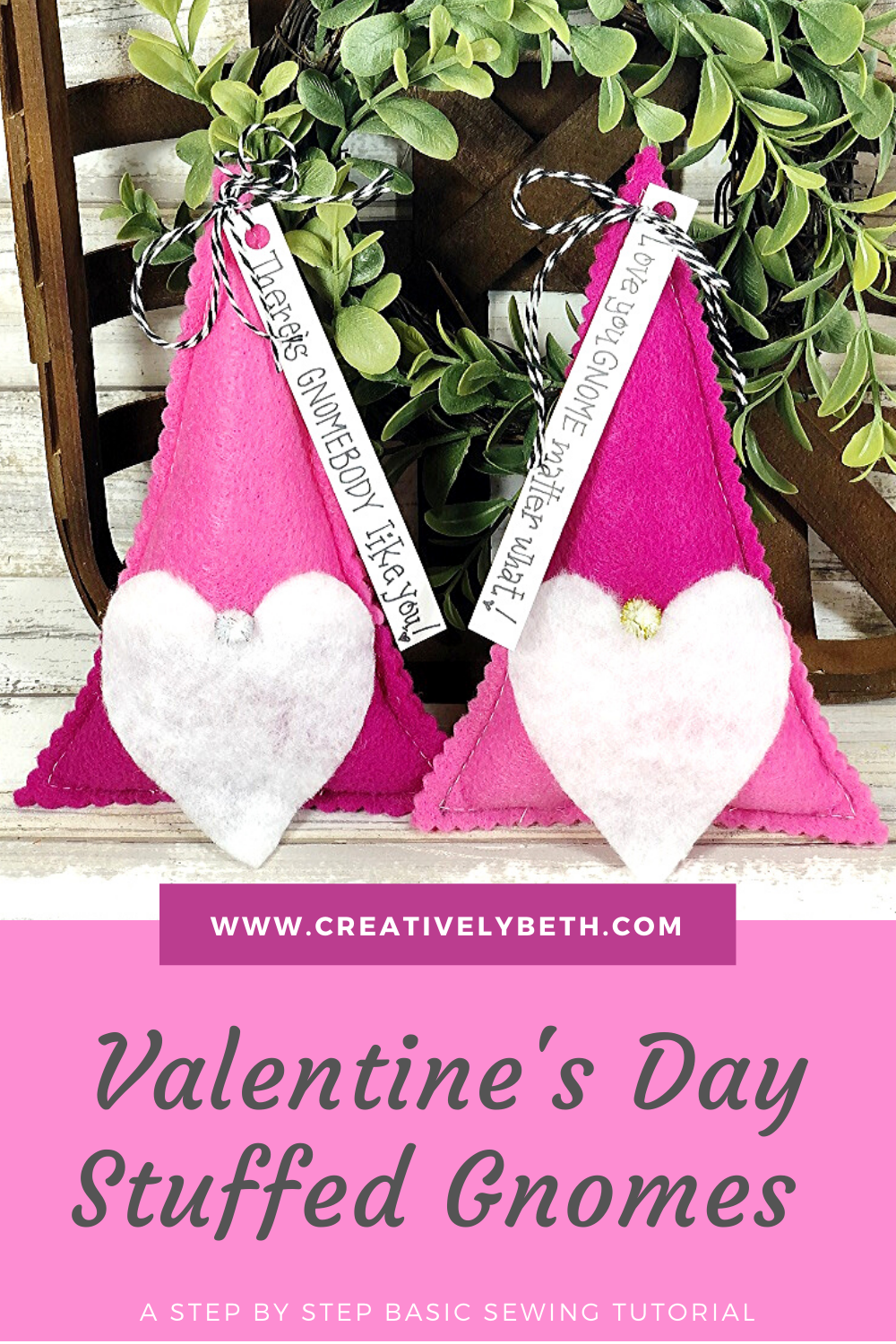 Valentine's Day Gnome Stuffies Creatively Beth