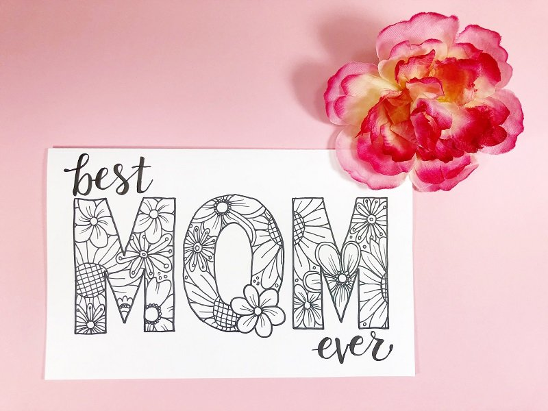 FREE Printable Mother's Day Cards Creatively Beth #creativelybeth #freeprintable #freedownload #coloring #mothersday #card #free