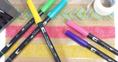 How to DIY Rainbow Washi Tape with Colorful Tombow Dual Brush Pens Creatively Beth #creativelybeth #diy #washitape #tombow #dualbrushpens #makeyourown