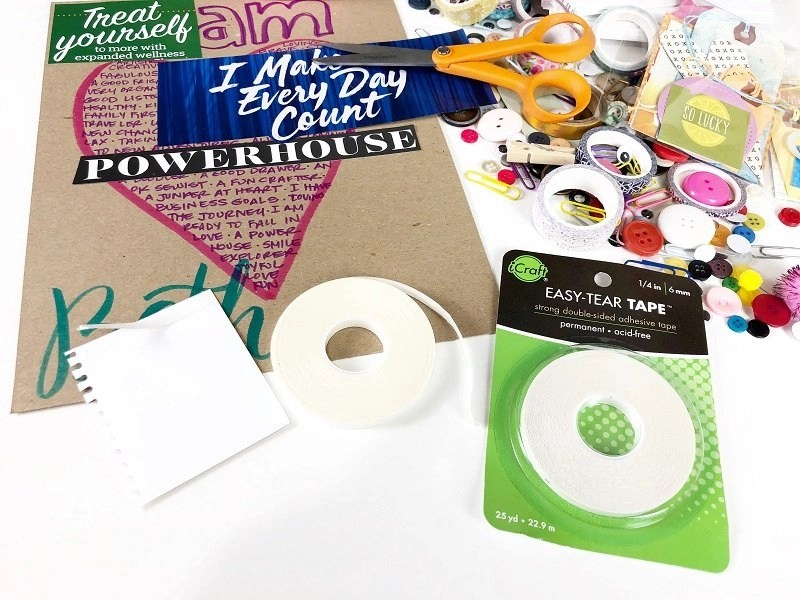 Create a Vision Board with Therm-O-Web Adhesives by Creatively Beth #creativelybeth #laurakellydesigns #visionboard #thermoweb
