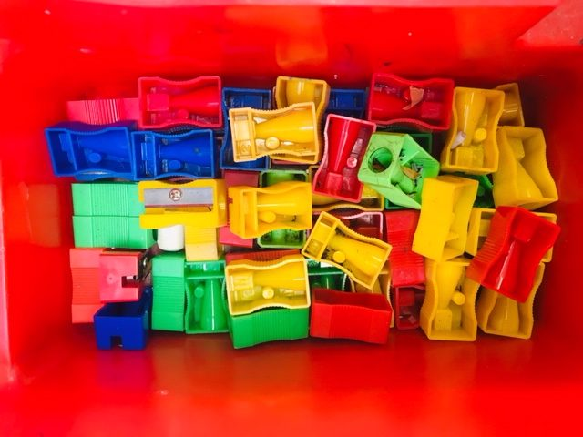 school pencil sharpeners in colours