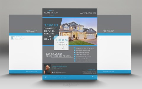 Elite Realty flyer top 10 things creatively seeded