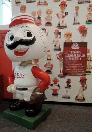 World's largest Mr. Redlegs bobblehead
