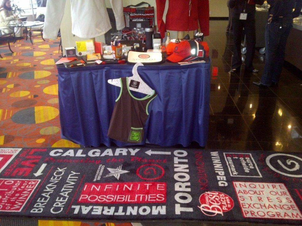 Customize your mats to your liking for any occasion such as this trade show