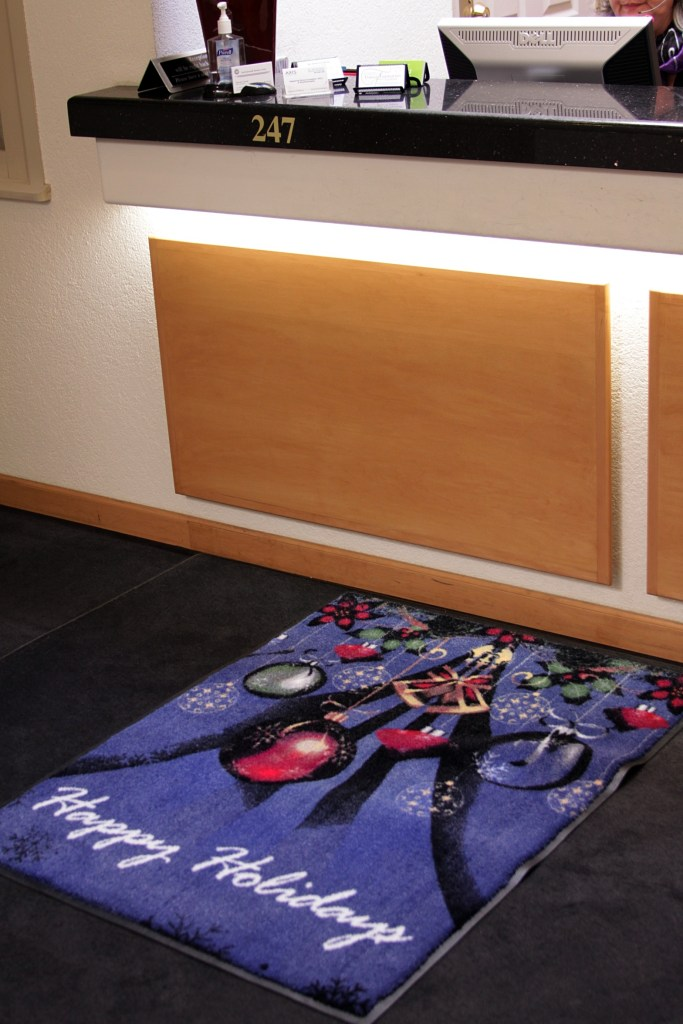 Custom printed logo mats are great addition to your reception areas