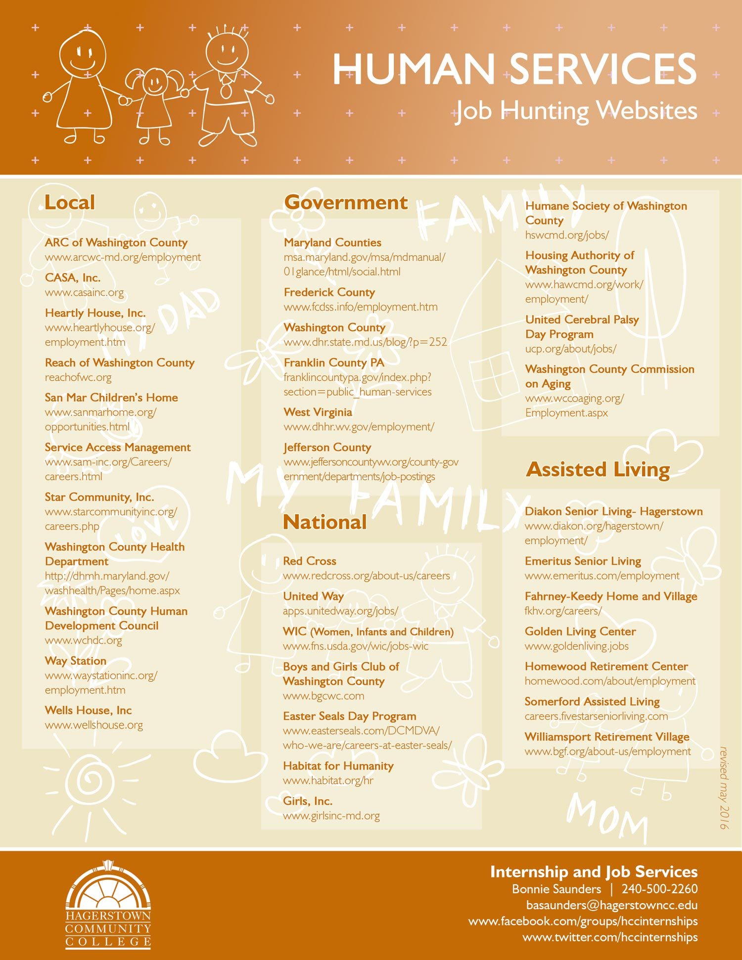 hcc job hunting websites flyers creative mind central by samantha