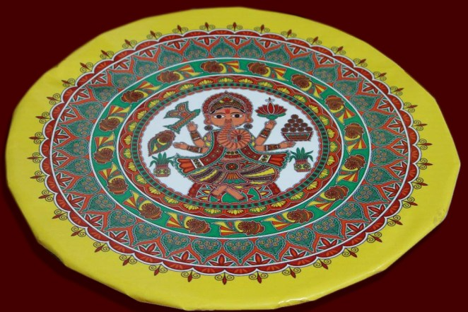 Daala(Bamboo Tray with stand) decorated for Sidhant (Engagement) in Mithila