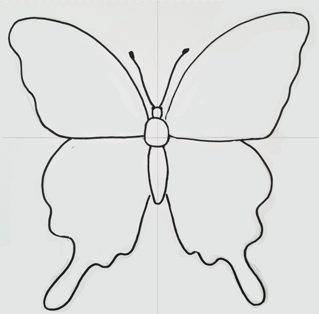 How To Draw A Symmetrical Butterfly