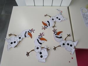 Anniversaire Reine des neiges Olaf marionnette