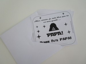 carte fête des papas Star Wars