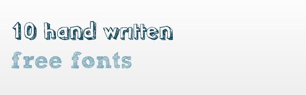 10 hand written great free fonts