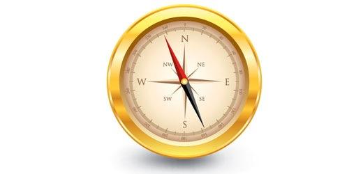 golden-vector-compass