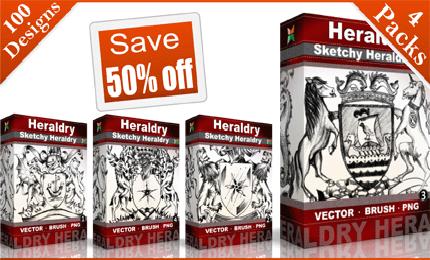 heraldry_vector_pack
