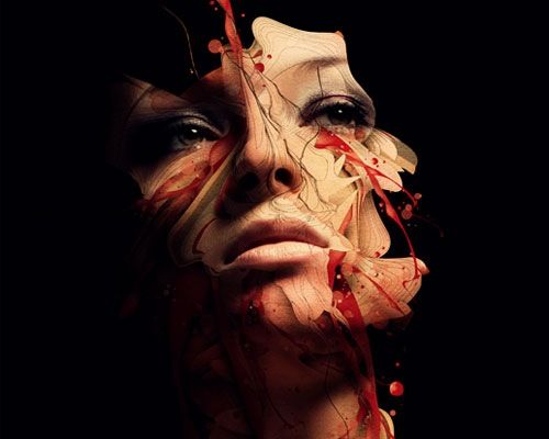 face-blood
