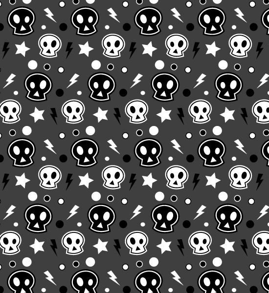 funky-dark-skull-pattern
