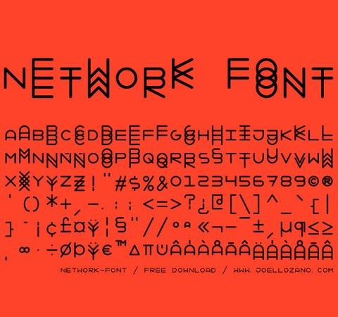 network-font