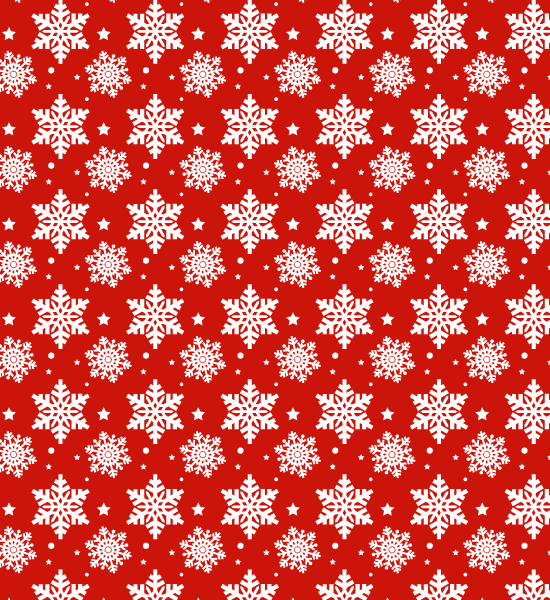 red-snow-flake-pattern