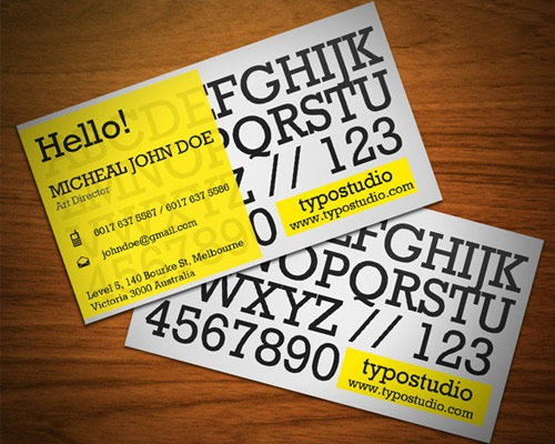 alpahabet-business-card