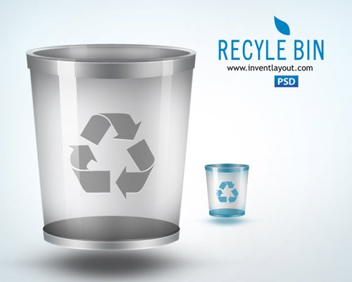 recylebinicon 50 Free 3D High Quality PSD File Icons