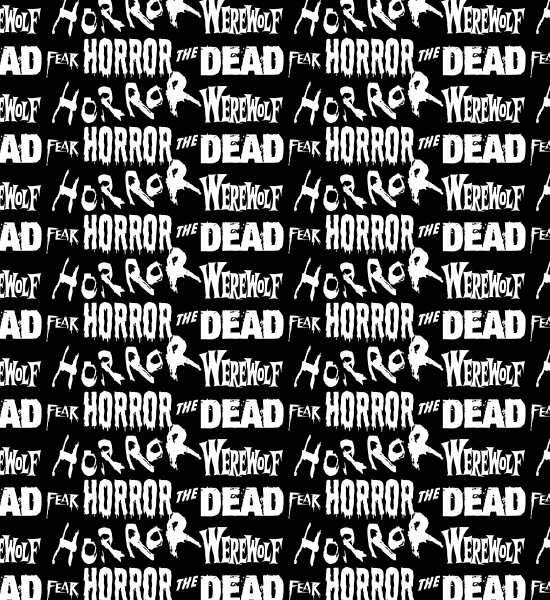 black-horror-typography-pattern
