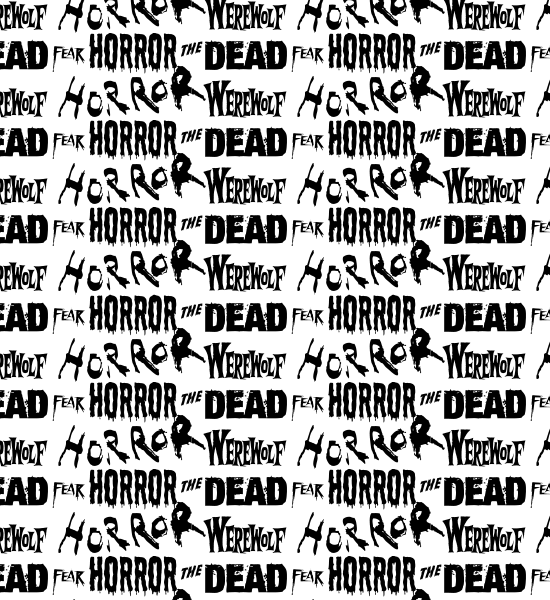white-horror-typography-pattern