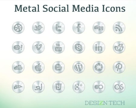 metalsocialmediaicons 40 Best Free Icon Sets Released 2012