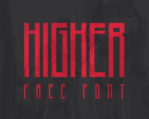 higher-free-font