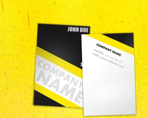 universal-yellow-business-card