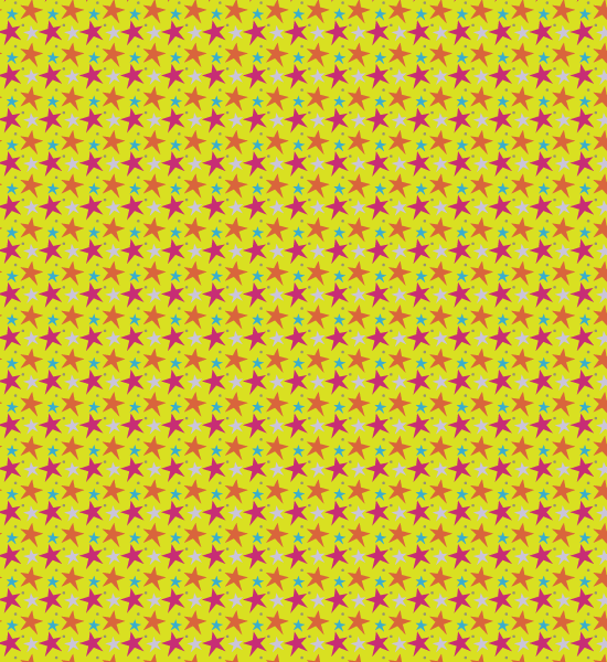 yellow-funky-star-pattern