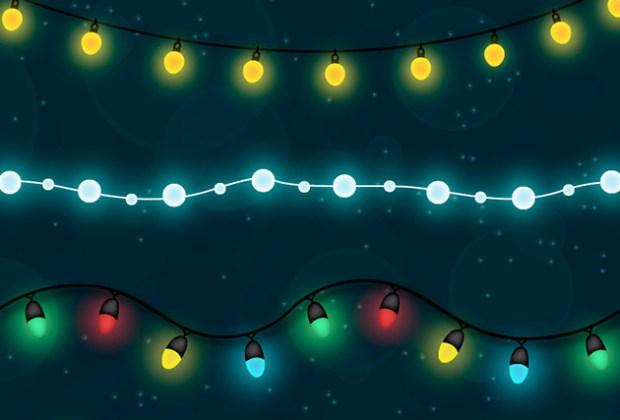 Christmas Lights Vector Free.Shiny Christmas Light Free Vector Set Creative Nerds