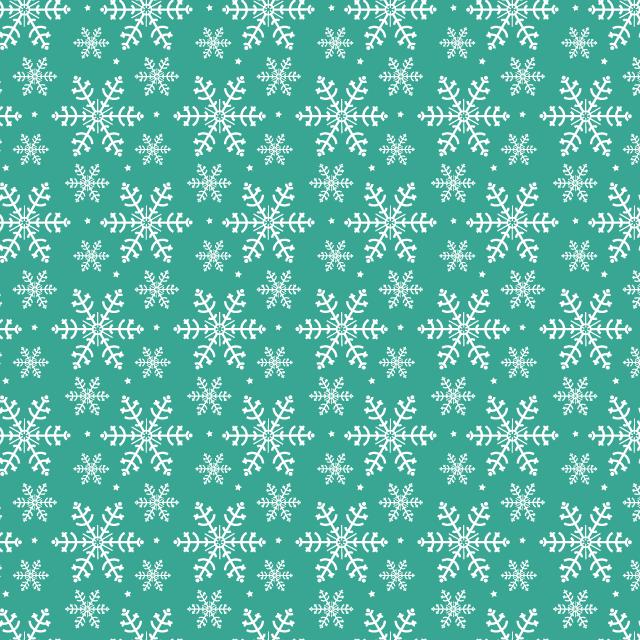 green-snow-flake-pattern