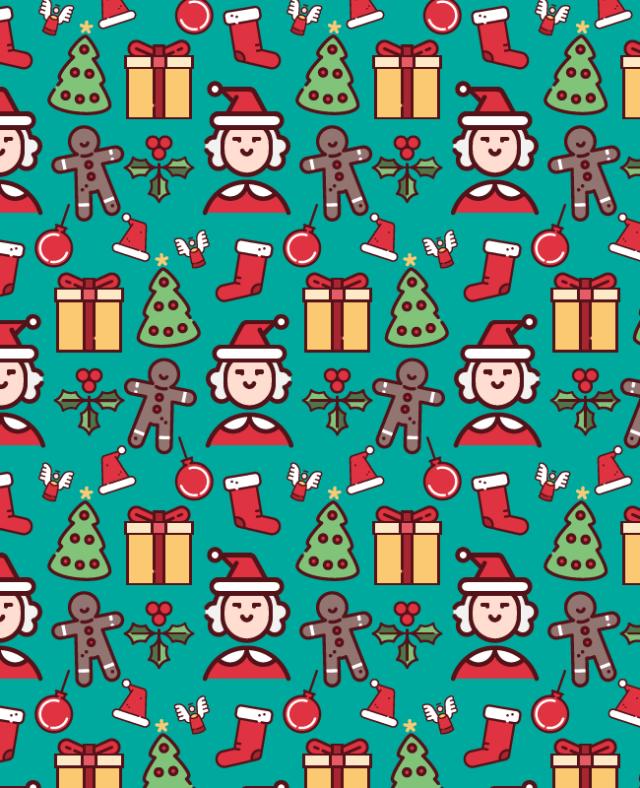 green-christmas-pattern