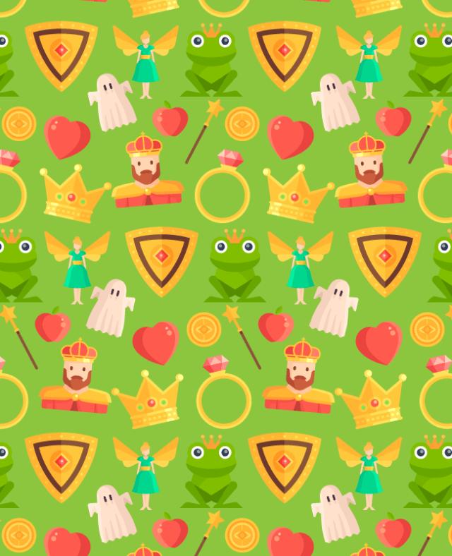 light-green-fairy-tale-patttern