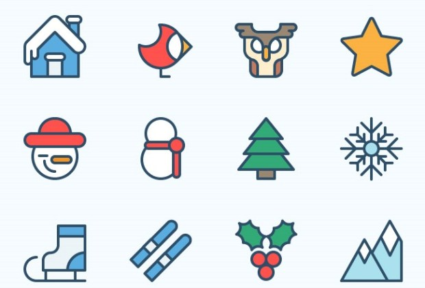 25 Free Christmas Themed Icon Sets Creative Nerds