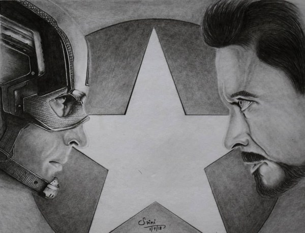 Pencil Drawing – Civil War Poster – creativentechno