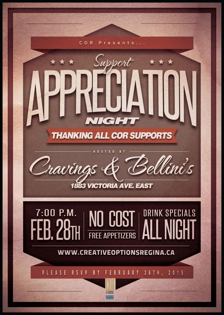 COR Presents Support Appreciation Night