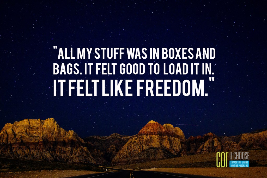 All my stuff was in boxes and bags It felt good to load it in. It felt like freedom