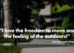I love the freedom to move and the feeling of the outdoors
