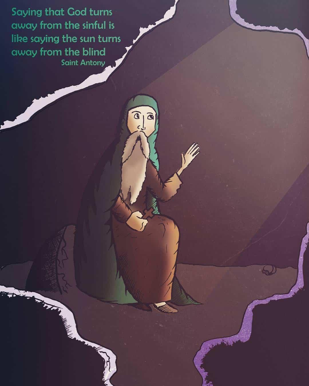 2016 Orthodox illustrations: Saint Antony the Great on God's love