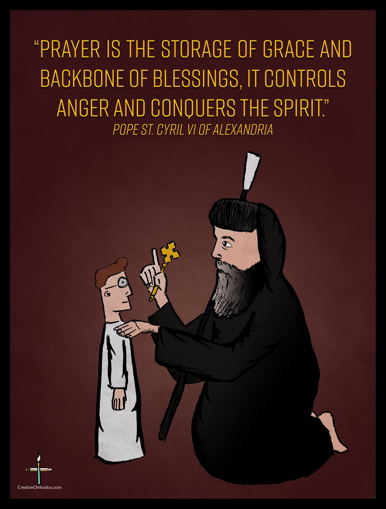 Saint Pope Kyrillos (Cyril) on Prayer