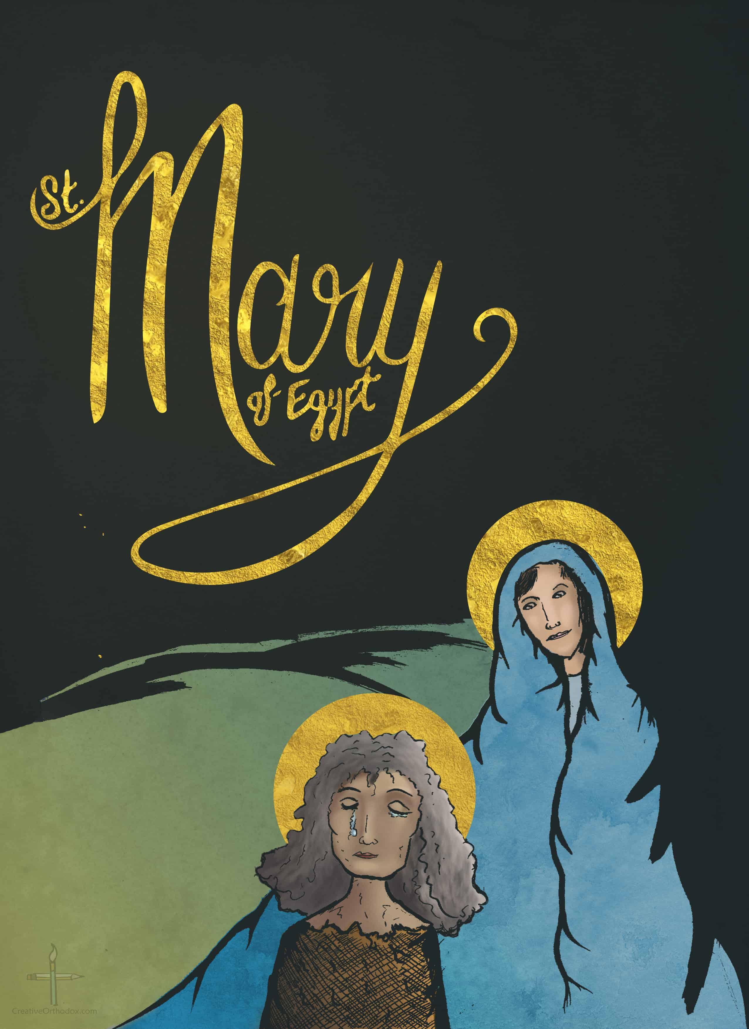Saint Mary of Egypt illustration